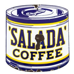 Salada Coffee Metal Porcelain Metal Sign