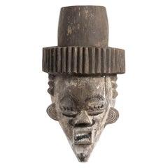 Salampasu Painted Wood Mask, Congo, 20th Century