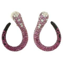Salavetti 18 Karat Yellow Gold Swirl Earrings