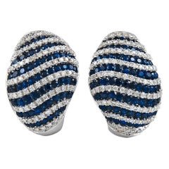 Salavetti Diamond and Sapphire Earrings