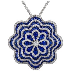 Salavetti Diamond and Sapphire Necklace