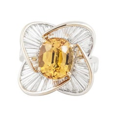 Salavetti Golden Sapphire Diamond Ring