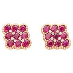 Salavetti Ruby & Diamond Earrings