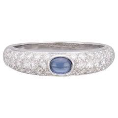 Salavetti Sapphire & 18k White Gold Ring