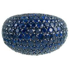 Salavetti Sapphire and Diamond Dome Ring