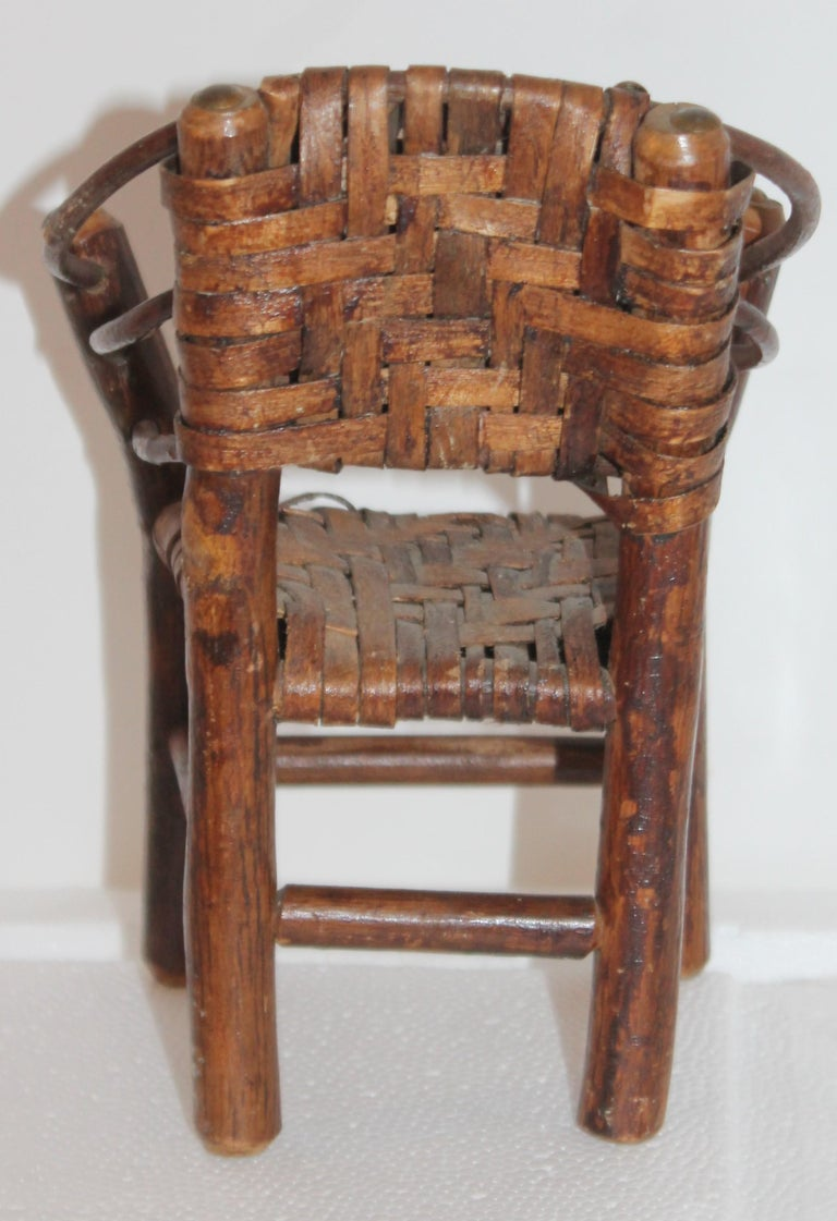 Salesman Sample Old Hickory Settee and Chair For Sale 3