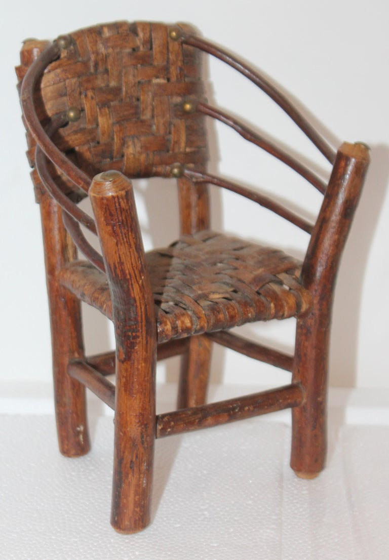 Salesman Sample Old Hickory Settee and Chair For Sale 1