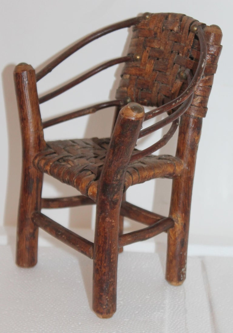 Salesman Sample Old Hickory Settee and Chair For Sale 2