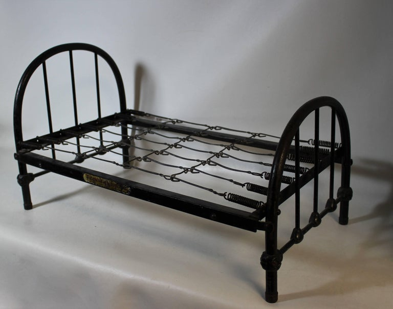 Salesman sample wrought iron bed frame made by Simmons Mfg. Simmons was established in Winnipeg Manitoba Canada in 1891.