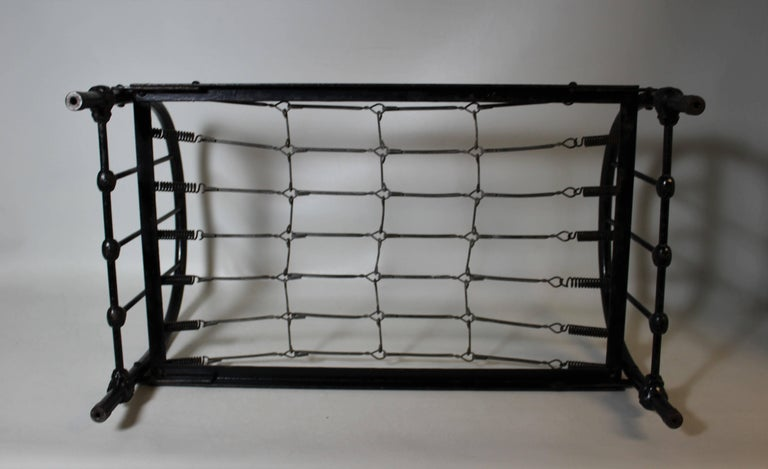 Salesman Sample Wrought Iron Bed Frame In Excellent Condition For Sale In Hamilton, Ontario