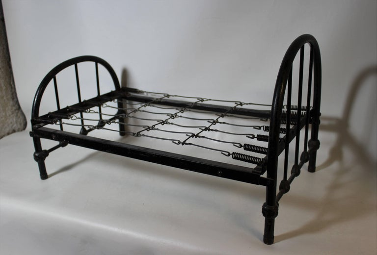 20th Century Salesman Sample Wrought Iron Bed Frame For Sale