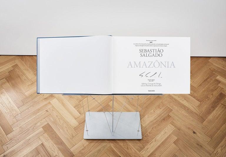 Steel Salgado, Amazônia Art D, Signed Sumo Book with Black & White Photographic Print For Sale