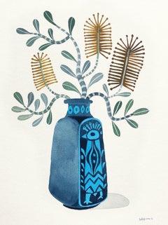 Coastal Banksia in Peacock Vase