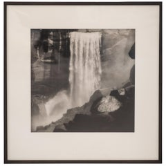"Sally Gall ""Vernal Falls"" Original Pencil Signed Gelatin Silver Print, 1993"