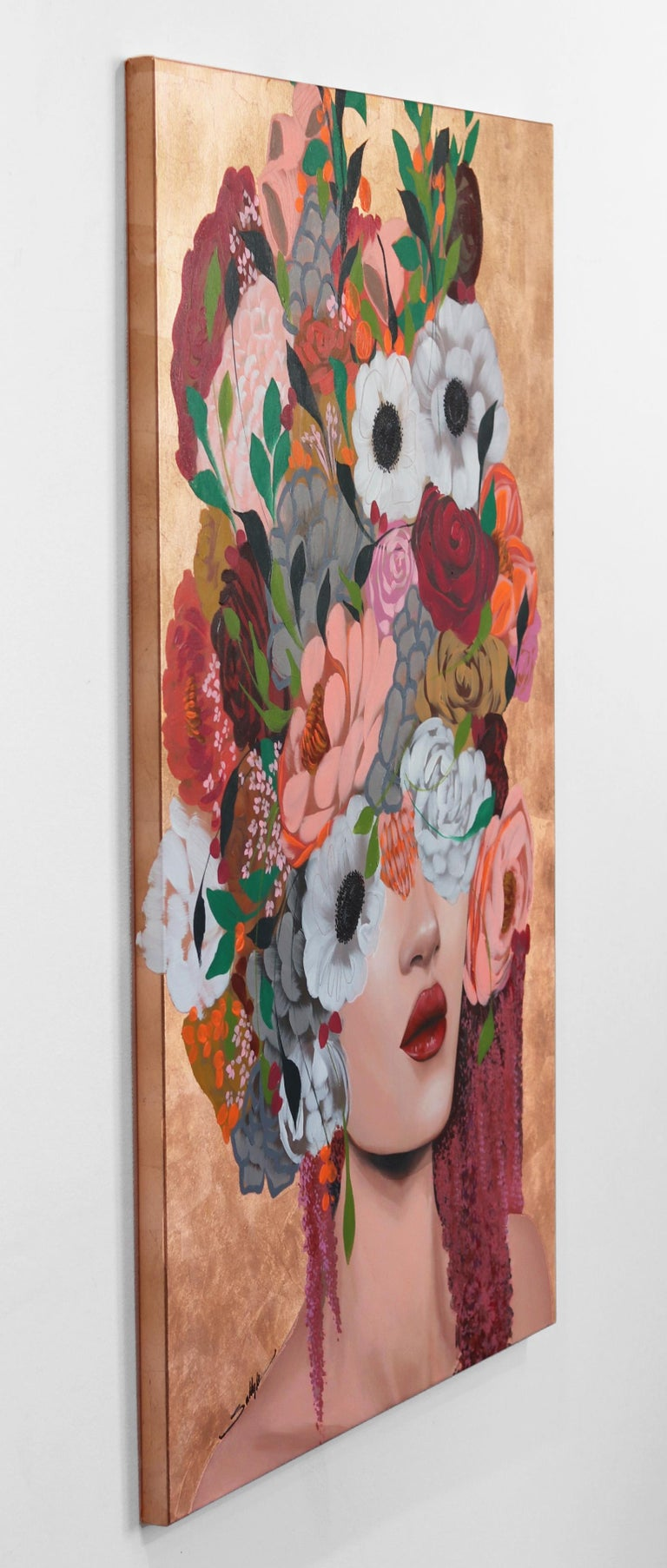 As your gaze lingers on one of Sally K's paintings, you notice how Sally's brush strokes add playfulness and life to the canvas, incorporating unexpected images and shapes of flowers, or abstract color combinations to convey the vibrant beauty of a