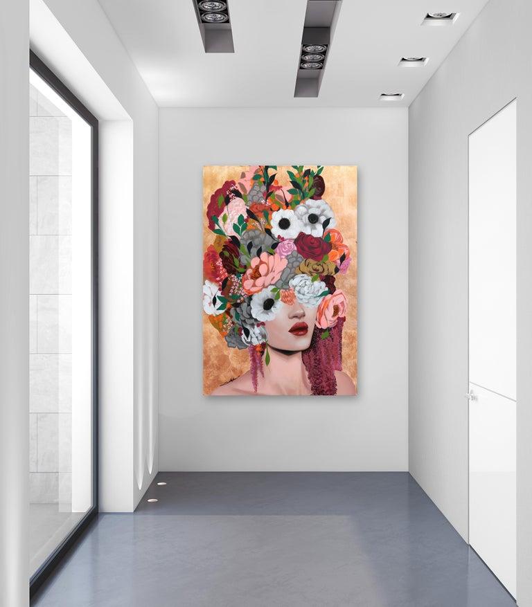 Monica - Original Copper Sally K Artwork For Sale 2