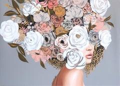 Rose Garden - Original Sally K Figurative Artwork