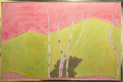 """""""Five Birches"""" by Sally Michel Avery, Oil on canvas, 1977"""
