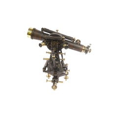 Salmoiraghi Tacheometer Made of Burnished Brass Original Patina