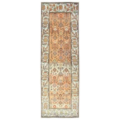 Salmon Background and Earth Tone Antique Bakitari Rug with All-Over Patten