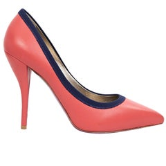 Salmon Lanvin Leather Pumps