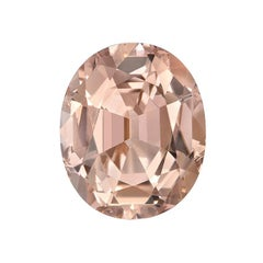 Salmon Pink Tourmaline Ring Gem 5.11 Carat Unset Oval Loose Gemstone