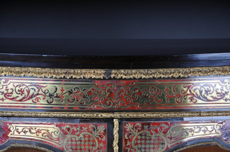 Ebonized Salon Boulle Chest of Drawers Chest of Drawers Napoleon III, Paris For Sale