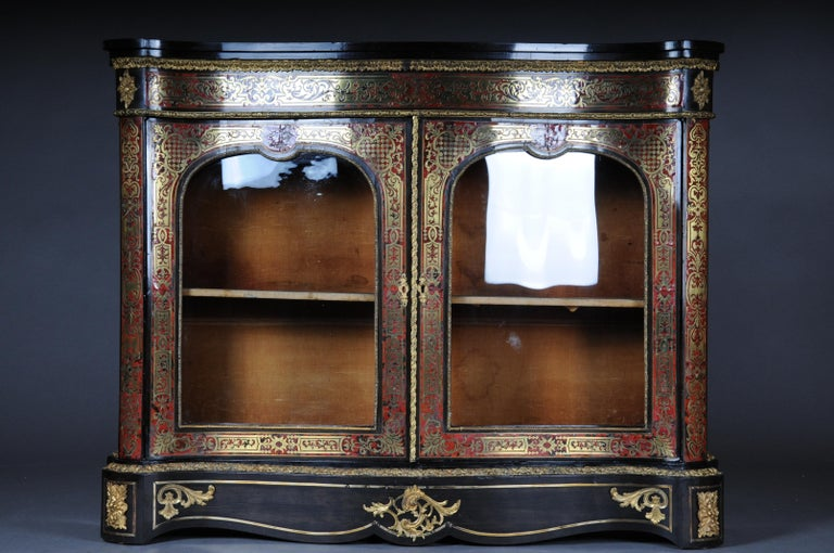 Salon Boulle Chest of Drawers Chest of Drawers Napoleon III, Paris In Good Condition For Sale In Berlin, DE
