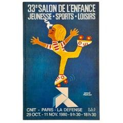 Salon de l'enfance, Jeunesse, Sports, Loisirs Original Vintage Poster