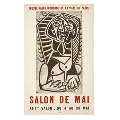'Salon de Mai' Vintage Picasso Exhibition Poster, 1957