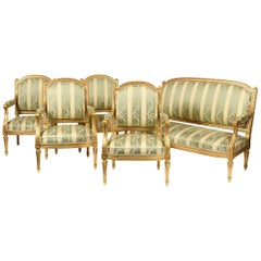 Salon Set with Armchairs and a Sofa