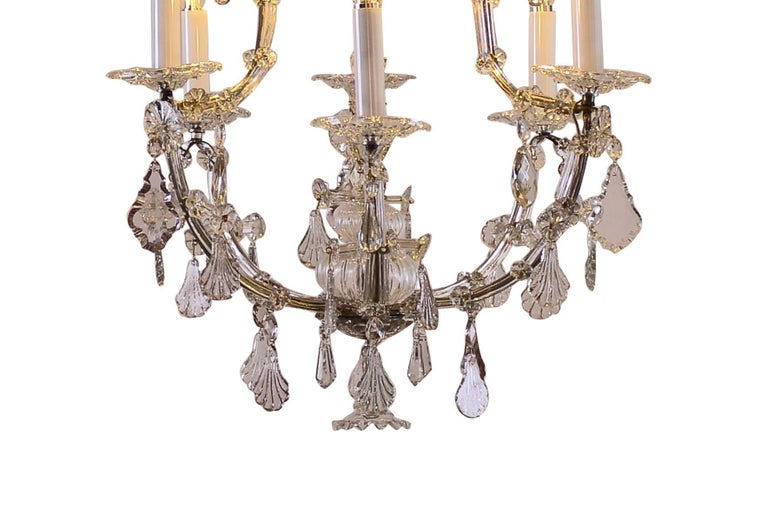 Hand-Crafted Original Large Saloon baroque style crystal chandelier Maria Theresia For Sale
