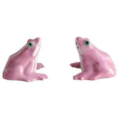 Salt and Pepper Shakers 'Frogs' Limoge