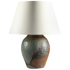 Salt Glazed Art Pottery Vase as a Lamp