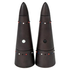 Salt Mill & Pepper Grinder Set from the Pok Collection in Beech