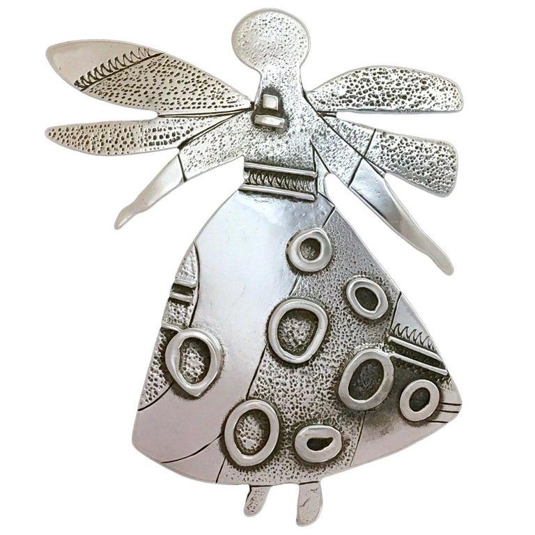 Salt Water Girl, Melanie Yazzie enhancer, pendant, sterling silver,  Navajo  For Sale