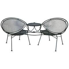 Salterini 1950's 'Radar' Tête-à-Tête Settee Lounge