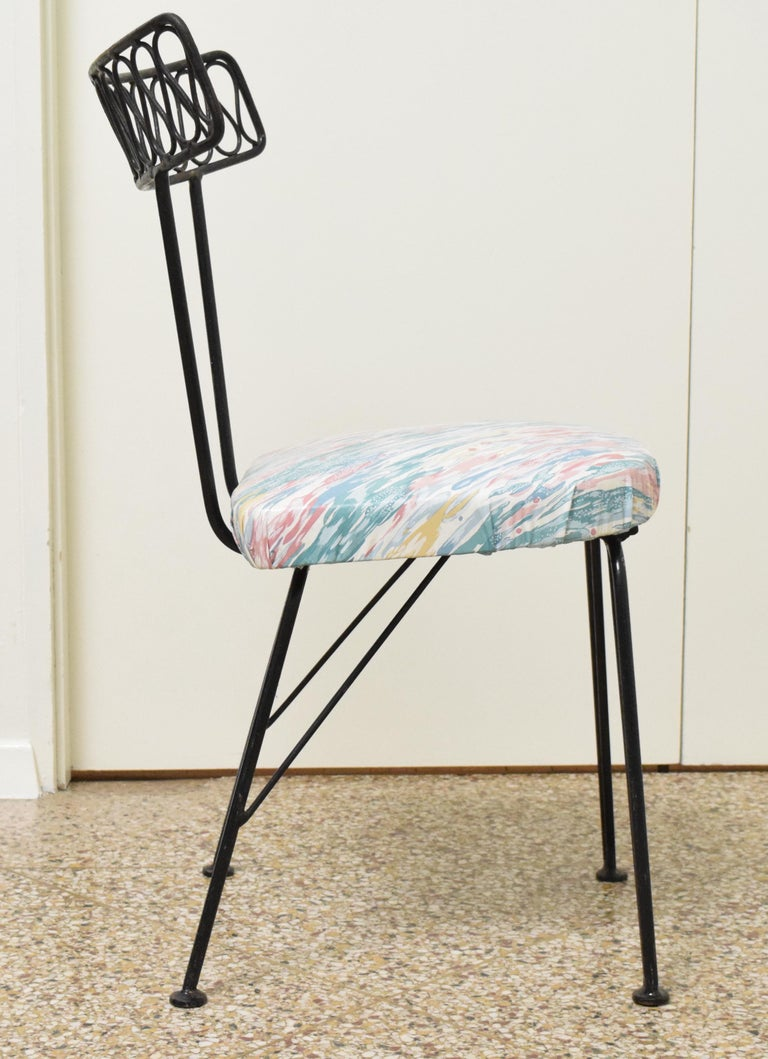 Wrought Iron Salterini Bistro Chairs For Sale