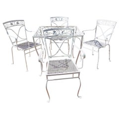 Salterini Card Table and Chairs Mt Vernon Pattern