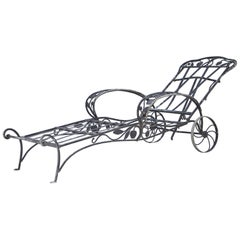 Salterini Della Robbia Collection Wrought Iron Lounge Chair, circa 1940s, No 1