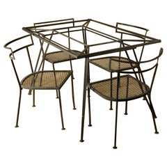Salterini Dining Table and Four Chairs, Black