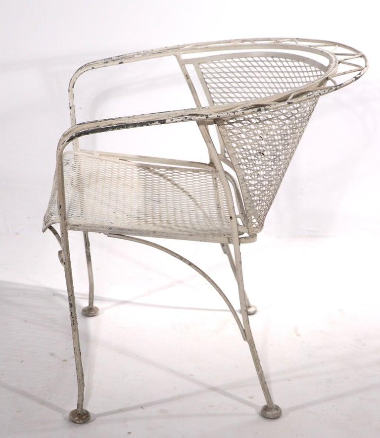 Mid-Century Modern Salterini Garden Patio Armchair For Sale