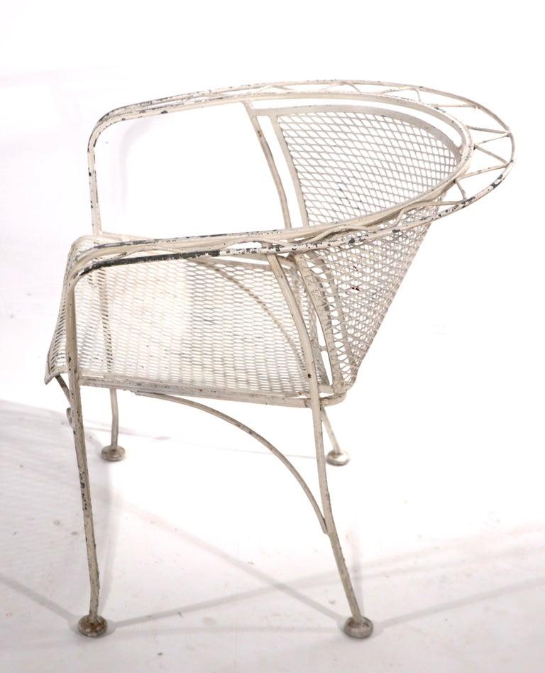 American Salterini Garden Patio Armchair For Sale