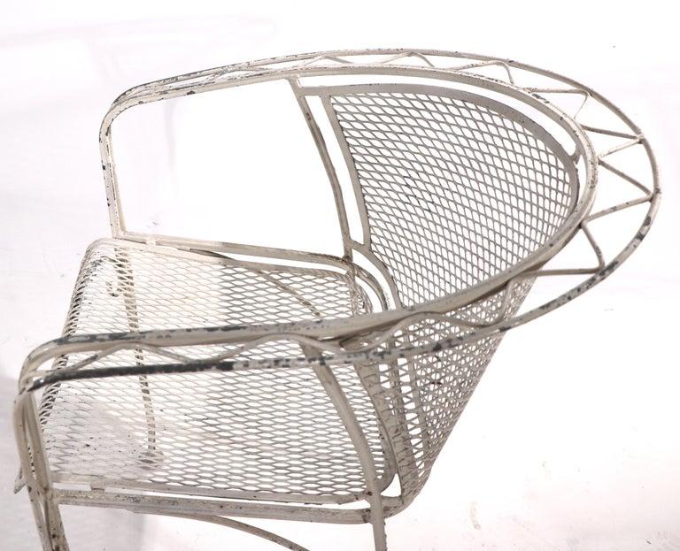Salterini Garden Patio Armchair In Good Condition For Sale In New York, NY