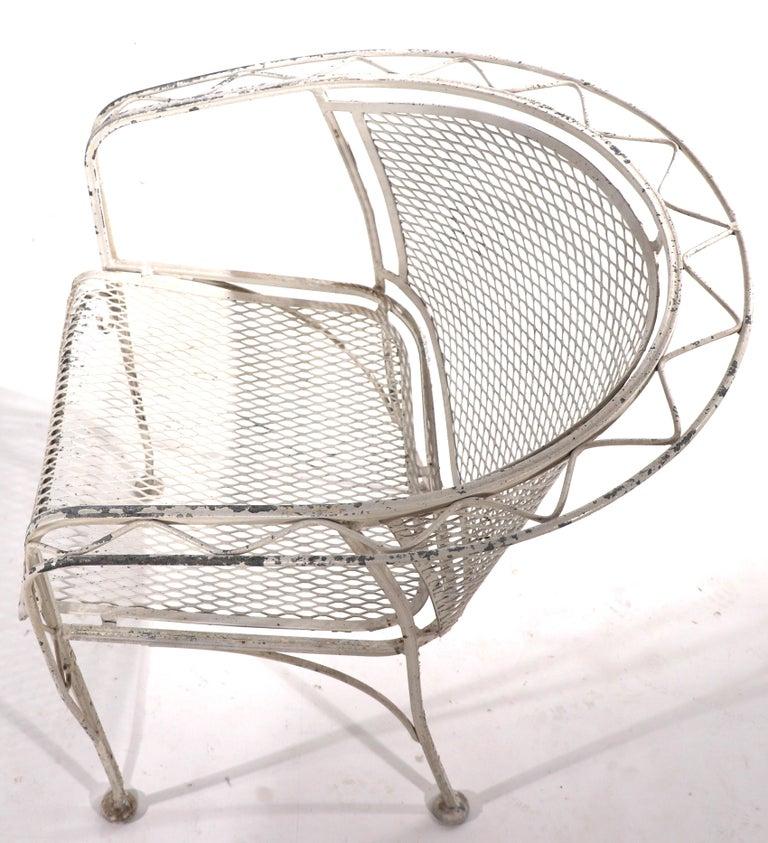 20th Century Salterini Garden Patio Armchair For Sale