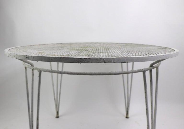 American Salterini Garden Patio Dining Table For Sale