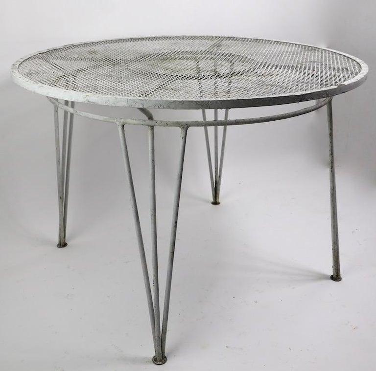 20th Century Salterini Garden Patio Dining Table For Sale