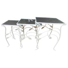 Salterini Lily Pattern Nest of Tables