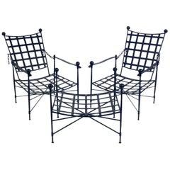 Salterini Lounge Chairs and Ottoman