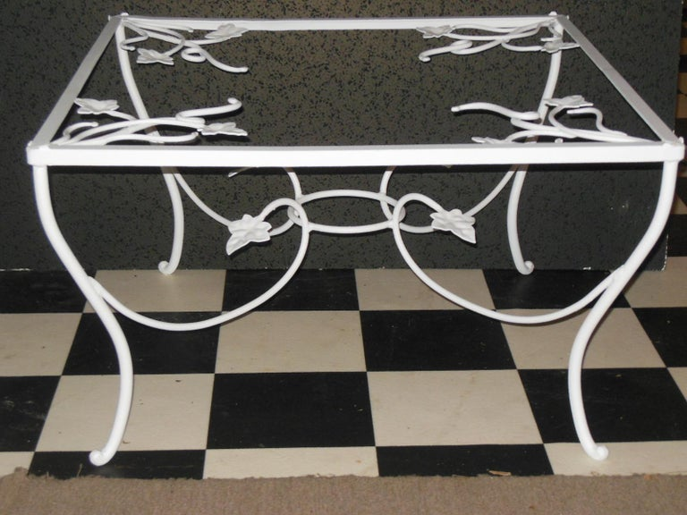 Wrought Iron Salterini Patio Set 4-Piece Mt Vernon Ready to be Restored For Sale